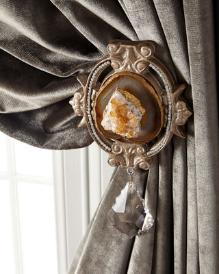 Image 1 of 4: Each Paris Geode Curtain Tieback