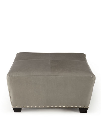 Boswell Leather Ottoman