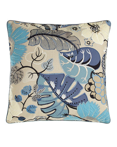 "Botanical Garden Pillow, 20""Sq."