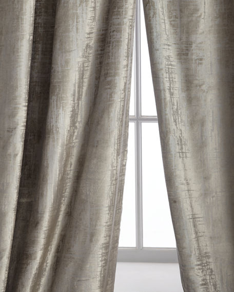 "Lili Alessandra Two 120""L Moderne Curtains"