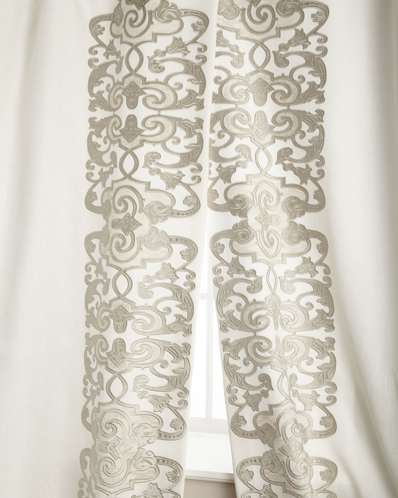 "Lili Alessandra Two 120""L Mozart Curtains"