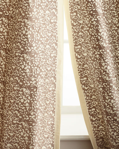 "Each 50""W x 96""L Shimmer Stone Curtain"