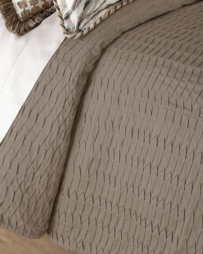 Sweet Dreams King Pleat-Textured Coverlet