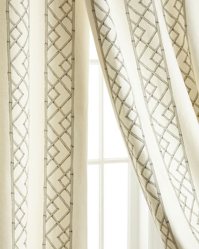 "Two 108""L Lattice Curtains"