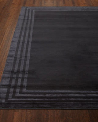 Image 1 of 5: Ellington Border Rug, 9' x 12'