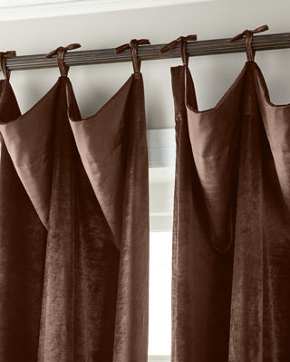 6009 Parker Tie-Top Velvet Curtains & Matching Items