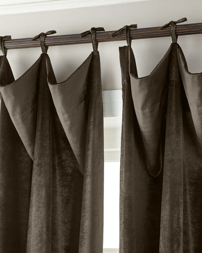 "120""L Tie-Top Velvet Curtain"