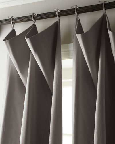 "Each 132""L Tie-Top Curtain"