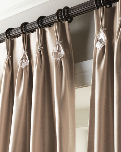 "Each 108""L Pinch-Pleat Curtain"