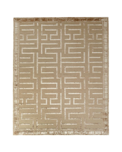Rowling Maze Hand-Knotted Rug, 8' x 10'