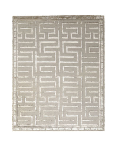 Rowling Maze Hand-Knotted Rug, 10' x 14'