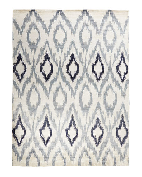 Image 3 of 3: Exquisite Rugs Mesa Hand Knotted Ikat Rug, 12' x 15'