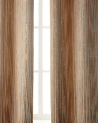 "Image 1 of 4: Two 96""L Abstract Stripe Curtains"