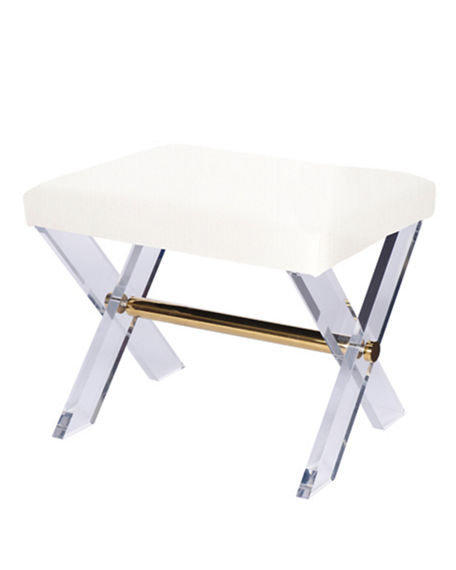 Image 2 of 2: Harrah Acrylic Stool