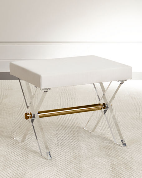 Image 1 of 2: Harrah Acrylic Stool