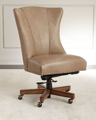Image 1 of 3: Shawnee Leather Office Chair