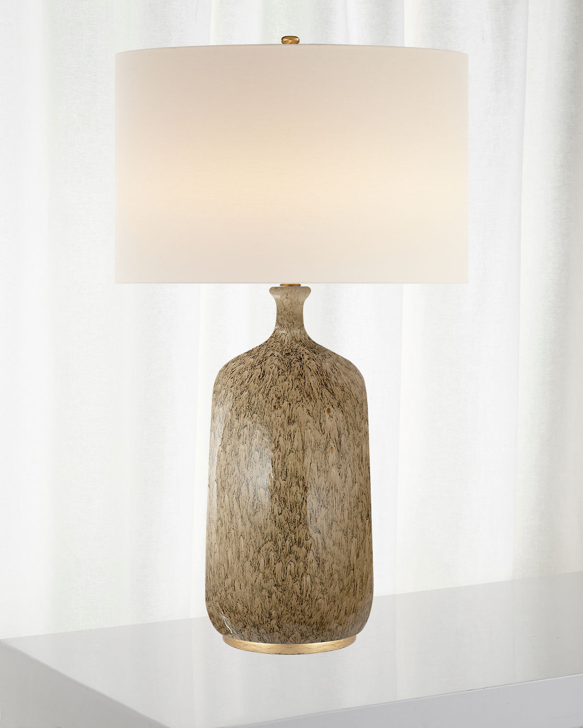 Aerin Lighting & lamps CULLODEN BLUE LAGOON TABLE LAMP