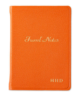 GRAPHIC IMAGE Travel Notebook, Personalized in Orange