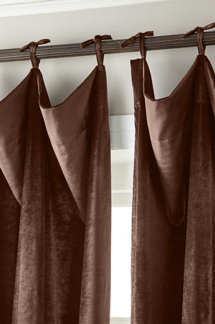 "Misti Thomas Modern Luxuries 108""L Tie-Top Velvet Curtain"