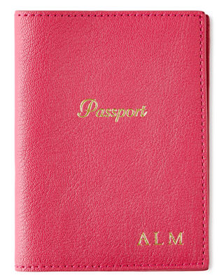 GIGI NEW YORK Passport Case, Personalized in Pink