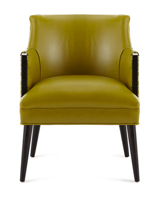 Image 4 of 4: Alicia Leather Chair