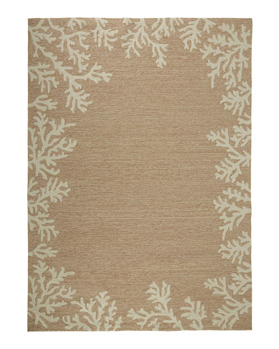 Coral Reef Indoor/Outdoor Rug, 5' x 7'6""