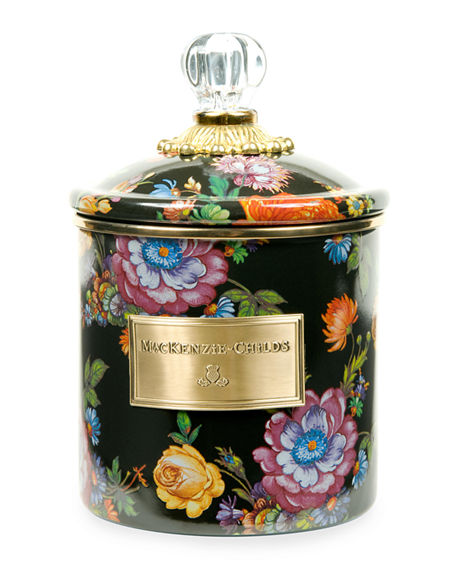 Image 1 of 2: MacKenzie-Childs Small Flower Market Canister
