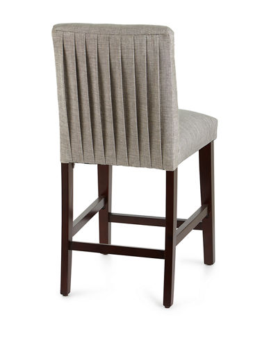 Marcy Pleated Counter Stool