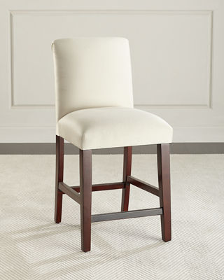 Image 1 of 4: Alain Diamond-Tufted Counter Stool