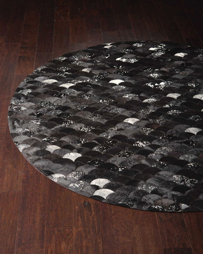 Costello Hairhide Round Rug, 6'