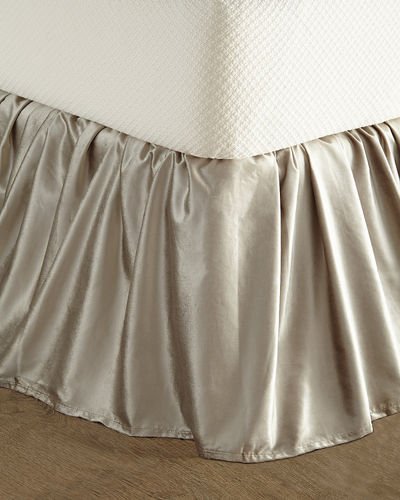 Queen/King Chloe Velvet Dust Skirt