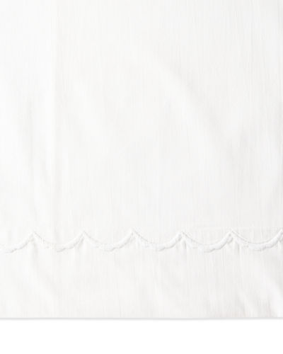 Full Scallops Embroidered 350 Thread Count Flat Sheet