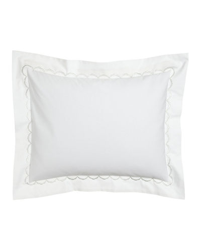 Matouk European Scallops Embroidered Sham