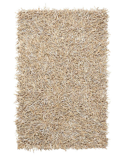 Bohdi Leather Shag Rug, 4' x 6'