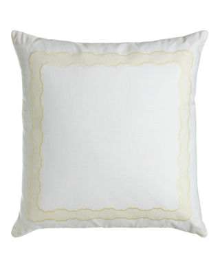 Sferra Embroidered Linen Pillow, 17
