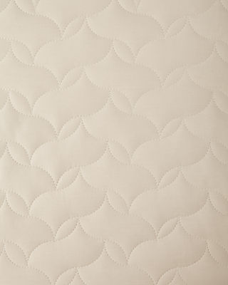 Image 2 of 2: European Quilted Percale Sham