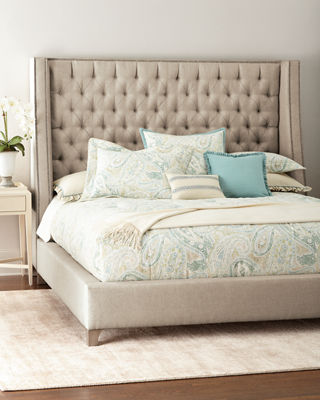 tufted bed. Massoud Missy Tufted King Bed F