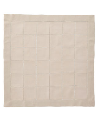 Boutross Imports Block Hemstitch Napkins, Set of 4