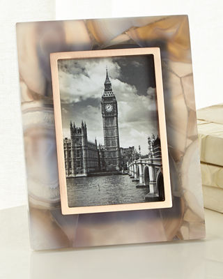 """Stone Slab Picture Frame, 4"""" x 6"""""""