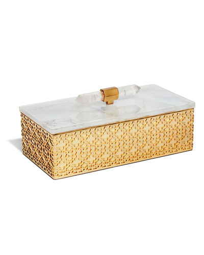 Rectangle Filigree Brass Box