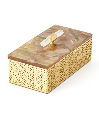 Kendra Scott Rectangle Filigree Brass Box