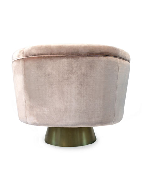 Image 3 of 5: Jonathan Adler Bacharach Velvet Swivel Chair