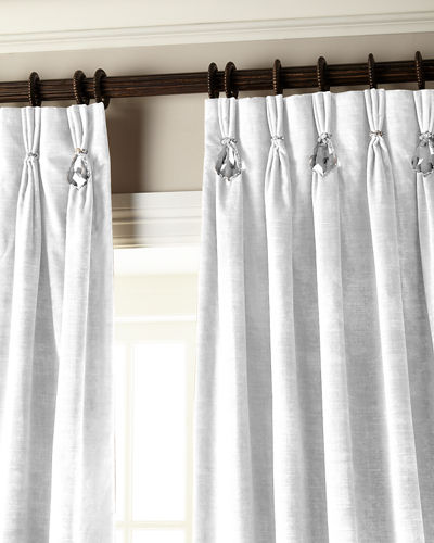 "120""L Velvet Curtain with Asfour Crystals"