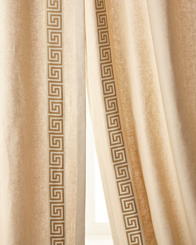"Eastern Accents Folly Curtain, Left Panel, 48""W x 108""L Each"
