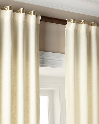 "Each 52""W x 108""L Hudson Metallic-Band Curtain"