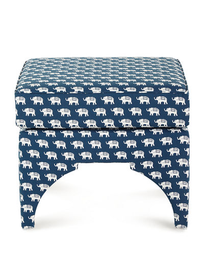 Emery Elephant Pillow-Top Square Ottoman
