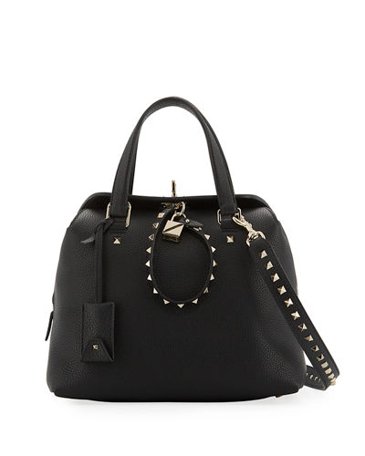 Rockstud Twiny Leather Duffel Bag