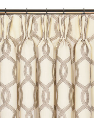 Eastern Accents Gresham Pinch Pleat Curtain Panel, 96