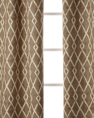 "Argyle Curtain, 108""L"