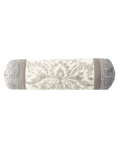 Sherry Kline Home Vanessa Patched Neck Roll Pillow